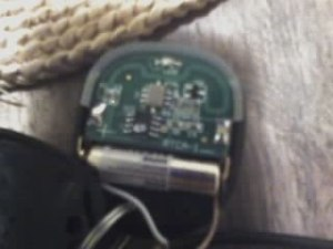 An external battery wired into the remote.